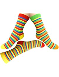 Loonysocks, 3 Pair of Colorful Cotton Rich Women/ Ladies & Girl Multicolor Socks, Size UK 6-8 EU 39/42