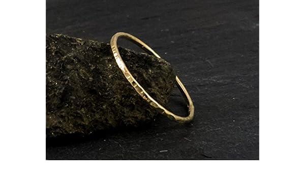 dünner Ring, 333er Gold, gehämmert, Stapelring, Vorsteckring