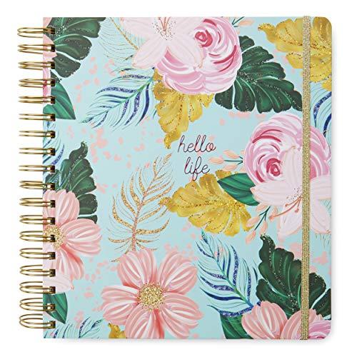 Tri-Coastal Design - Agenda 17 Monate 2020 Täglich mit Wochenplaner - Hard Cover Durable - Elegant dekoriertes Cover (blue floral) (Monats-und Wochenplaner)