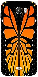 Snoogg Butterfly 2759 Designer Protective Back Case Cover For Micromax A110