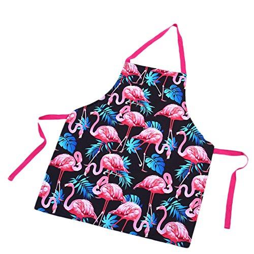 Oyfel Jefes delantal Flamingo flamencos algodón lino