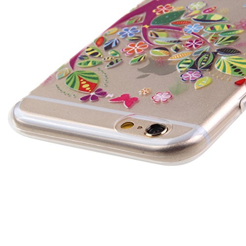 iPhone 6S plus Hülle,iPhone 6S plus Transparent Hülle, Felfy Apple iPhone 6/6S plus Ultra Slim Durchsichtig Schneeflocke Weihnachten Christmas Serie Muster Soft Flexible Weich TPU Silikon Schutzhülle  Mädchen #8