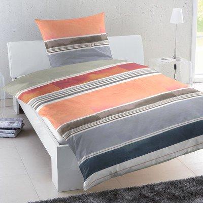 HAHN Perkal-Bettwäsche Streifen mehrfarbig 135x200 cm