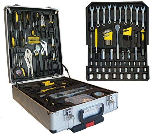 186 tlg. Werkzeugkoffer Gelb Werkzeug Werkzeugkiste Werkzeugtrolley Tool Set...