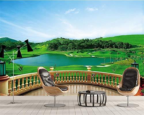 MuralXW 3D Senior Material Silk Silk Tuch Balkon golfplatz atmosphärische tv Schlafzimmer Hintergrund wandbild wandbild leinwand-450x300cm
