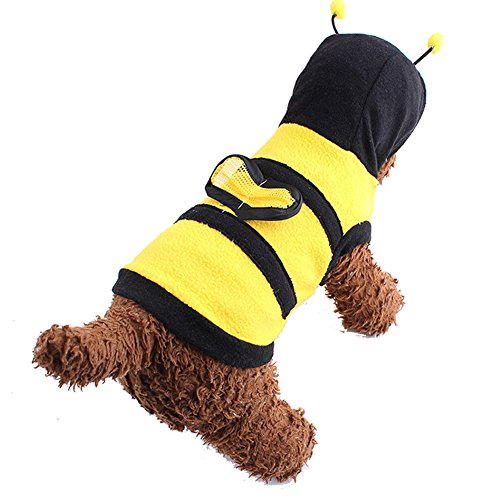 swyivy Kleine Bumble Bee Pet Halloween Kleidung Apparel Kleid bis Pet Coat Hoodie