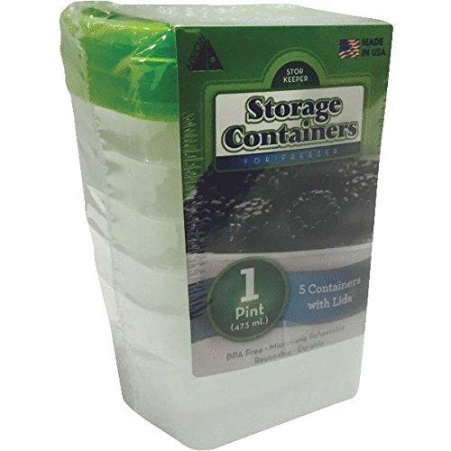 Pfeil Kunststoff 000425Pack 1Pint stor-Keeper Gefrierschrank Aufbewahrungsbehälter, Klar - Stor-keeper