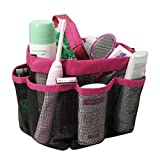 Hanging Bathroom Organizer Bag Shower Caddy Bags Quick Dry Portable Washing Bag Toiletry Organizer Cosmetic Storage Bags with 8 Mesh Pockets Resistant Water for Home Travel Gym Dorm Bathroom (red)