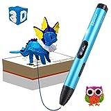 Tipeye PCL Filament Pack - 3D Stift Filament 1.75mm 12 Farbe 6m Pro Farbe 3D Druck PCL Filament f¨¹r 3D Druck Pen 3D Drucker-Stift(Nur f¨¹r Niedrige Temperatur 3D Stift) (03A Blau)