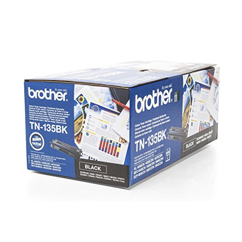 Original Toner Brother TN-135BK - 1 Toner-Patrone - Schwarz - 5.000 Seiten - passend für