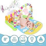 Ingeniously Kinderpedal Klavier Fitness Rack Baby Krabbeldecke Infant Musikpedal Klavier Fitness Rack Baby Game Pad Kleinkinder Aktivität Spielzentren für 0-3-12 Monate Baby