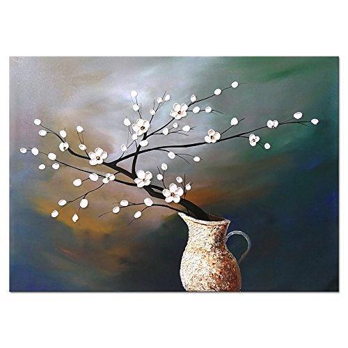 Wieco Art Plum Blossom Modern Floral Artwork Gemälde auf Leinwand abstrakt art Wand für Wohnzimmer Home Dekorationen Wand Dekorationen