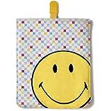 Nici 38180 - Smiley Happy Collection Plüschhülle für iPad, allover, 31 x 22 x 1.5 cm