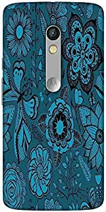 Snoogg Abstract Floral Background Designer Protective Back Case Cover For Mot...