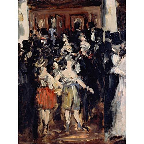 Edouard Manet Masked Ball at The Opera Large Art Print Poster Wall Decor Premium Mural Maske Oper Große Kunst Wand Deko (Home Print At)