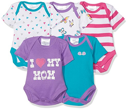 Twins Body para Bebé, Pack de 5, Multicolor (mehrfarbig 3200), 80, Pa