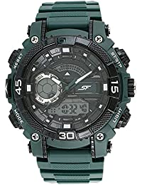 Sonata Analog-Digital Black Dial Men's Watch-77070PP06