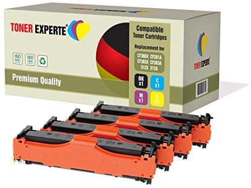 Preisvergleich Produktbild 4er Set TONER EXPERTE® Premium Toner kompatibel zu HP 312X / 312A CF380X CF381A CF382A CF383A für HP Colour Laserjet Pro MFP M476DN,  M476DW,  M476NW