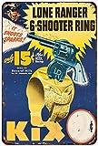 cwb2jcwb2jcwb2j 1947 Lone Ranger 6-Shooter Ring Vintage Reproduction Metal Sign 8 x 12