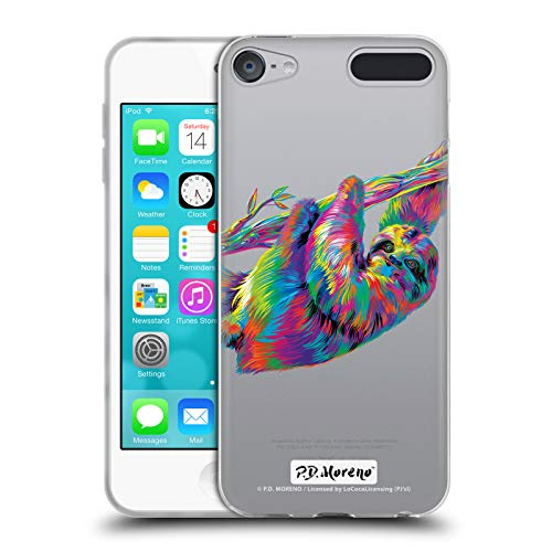 Head Case Designs Offizielle P.D. Moreno Faultier Tiere Soft Gel Hülle für Apple iPod Touch 6G 6th Gen - Mp3-player Touch Ipod Apple 64gb
