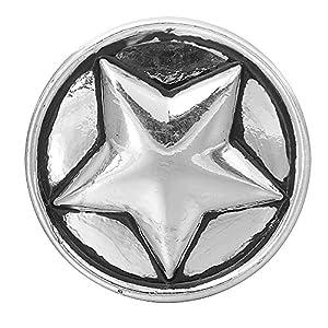 Andido Chunk 18 mm Stern für Chunks Armband Druckknopf Click Button NC0117AF