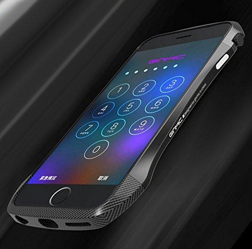 Iphone 6 / iphone 6s custodia, adorehouse custodia in fibra di carbonio custodia ultra sottile leggera e flessibile custodia antipolvere anti-graffio cover sottile per iphone 6 / iphone 6s (nero)