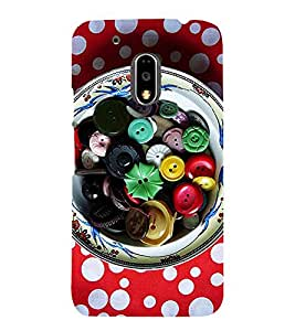 ASSORTED BUTTONS IN A BOWL 3D Hard Polycarbonate Designer Back Case Cover for Motorola Moto G4 Plus