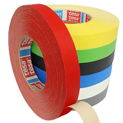 Tesa 4651 Premium Gewebeband verschiedene Breiten und Farben wählbar/rot 19 mm x 50 m