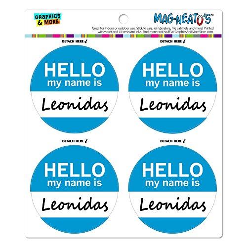 leonidas-hello-my-name-is-mag-neatostm-automotive-car-refrigerator-locker-vinyl-magnet-set