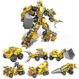 AOTE-D Verformung Roboter Gabelstapler Ärger Truck Tanker Baufahrzeug Kind Kombination Spielzeug 6 Stück Set Spielzeugautos Spielzeugauto Baufahrzeug Lkws Push Und Go Reibung Angetriebene Sets Von