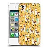 Head Case Designs Offizielle Lidiebug Weisses Lama 2 Tiermuster Ruckseite Hülle für iPhone 4 / iPhone 4S
