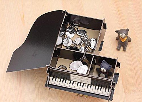 Demarkt Aufbewahrungsbox Organizer Cartoon Papier Schreibtisch Aufbewahrungsbox Schwarzes Klavier für Handy Kugelschreiber DIY - 4