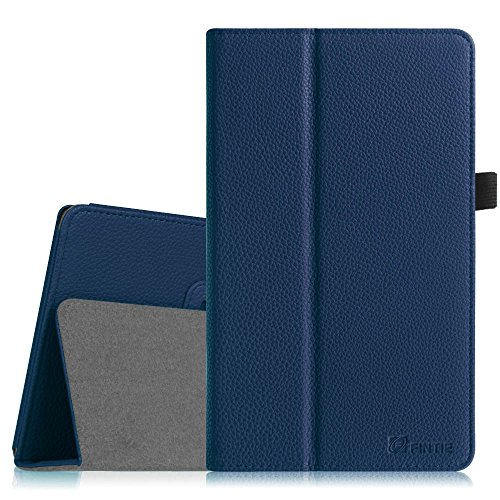 Fintie Asus ME181CX Folio Hülle Case - Slim Fit Schutzhülle Cover Tasche Etui für Asus ME181CX ProSieben Entertainment Pad 20,3 cm(8 Zoll) Tablet-PC (Asus MeMO Pad 8 ME181C), Marineblau