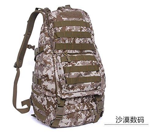 Zaino 45L zaino impermeabile outdoor alpinismo double borsa a tracolla 49*34*20cm,ACU Digital Deserto Digital