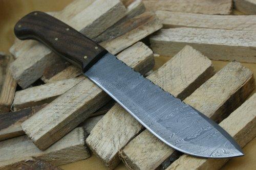 Custom Damast Bowie Messer Jagdmesser Mit Lederscheide (Custom Messer)