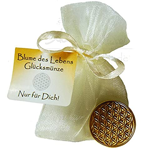 EnerChrom - Blume des Lebens-Glücksmünze als Glücksbringer