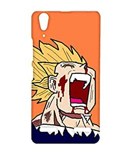 Vogueshell Dragon Ball Blood Printed Symmetry PRO Series Hard Back Case for Lenovo A6000