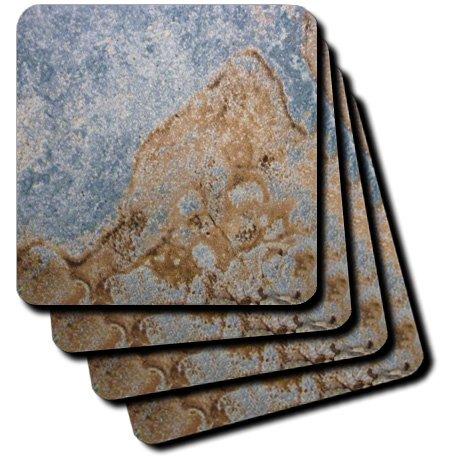 3drose CST _ 26499_ 4blau N brown-ceramic Fliesen Untersetzer, Set von 8 (Glas Brown Fliese)