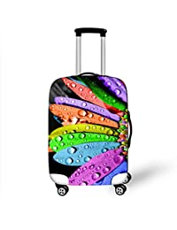 Funda protectora de la maleta Flores 3D Resistencia al desgaste Alta fuerza elástica No se desvanecen Resistente a los arañazos A prueba de polvo Funda de equipaje de viaje de moda 18-28 pulgadas , 2 , s