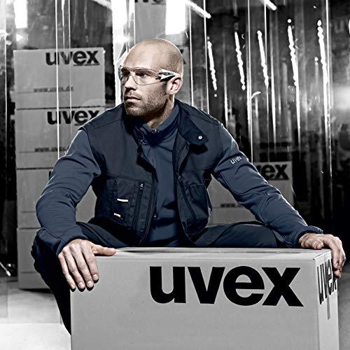 uvex Schutzbrille pheos supravision excellence klar hellgrau/grau kratzfest beschlagfrei – Sicherheitsbrille, Arbeitsschutzbrille - 3