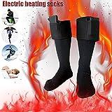 Chaussettes chauffantes en coton, tailles 36-46, pour hommes et femmes(piles non incluses)