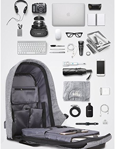 493fb3f31a Ozoy Zofey Business Anti-theft Fabric Water Resistant USB Charging Port  Laptop Backpack