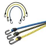 Amorar set da 3 cavi elastici porta pacchi con ganci,extra forte|con 2 anni di garanzia di soddisfazione|corda elastica,corde elastiche con ganci