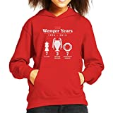 Coto7 Arsene Wenger The Wenger Years 1996 To 2018 Arsenal Kid's Hooded Sweatshirt