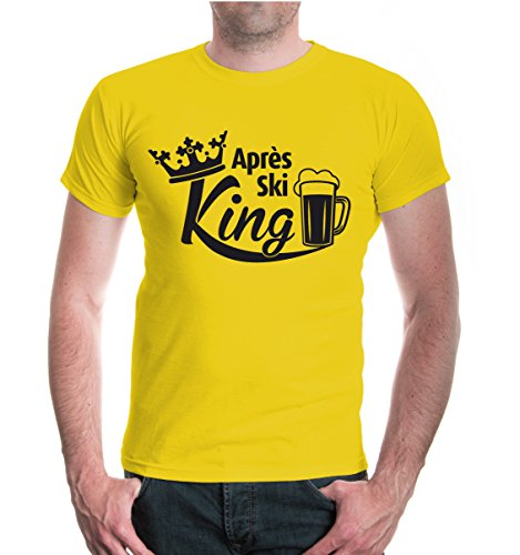 buXsbaum® T-Shirt Apres Ski King Sunflower-Black