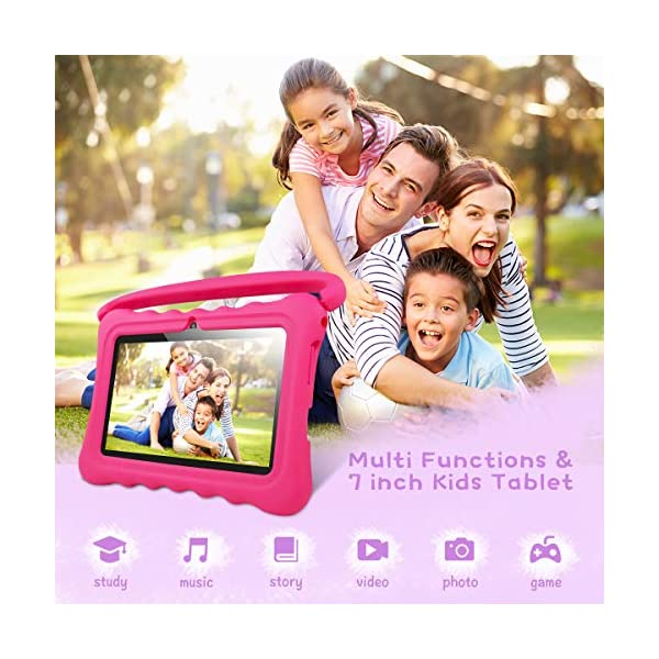 Kids-Tablet-PC-Android-81-OS-7-Inch-Full-HD-Display-Tablets-For-Kids-1GB-RAM-16-GB-Storage-Quad-Core-13GHz-WiFi-Tablet-Soft-ShockKid-Proof-Case