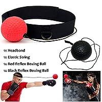 AimdonR Boxing Fight Ball Training Ball Reflex Speedball with Headband Improve Speed Responses and Hand Eye Coordination