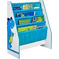 Worlds Apart 470DIE Portalibri a Tasche Verticale, MDF/Tessuto, Azzurro/Giallo - Arredamento - Confronta prezzi