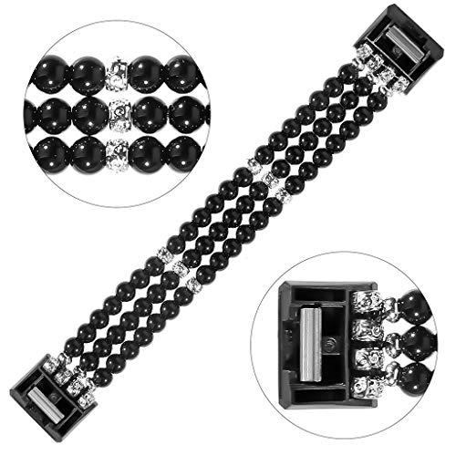 Laile Uhrenband 2019 Neu DREI Perlenreihen Ersetzen DasTeleskop Schmuckband Mit Handschlaufe, Modisches Design und Verstellbarer Gurt