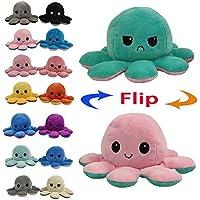 Juting Poupée Mignonne Poulpe Double Face Flip Octopus en Peluche, poupée d'animaux en Peluche réversible Douce Poulpe,Cadeaux Jouets créatifs colorés pour Enfants,Famille,Amis (Blue+Purple,1Pcs)